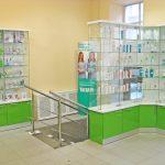 Торговая мебель для аптеки Петрофарм (Санкт-Петербург)