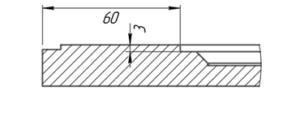 Разрез фасада Тахо (стиль кантри)