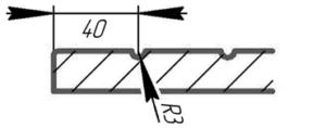 Разрез фасада Дивайд 12 (стиль модерн)
