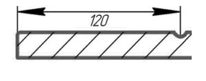 Разрез фасада Дивайд 4 (стиль модерн)