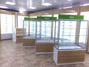 Аптечные торговые островные стеллажи