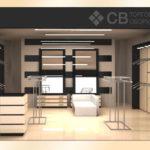 Визуализация помещения магазина одежды