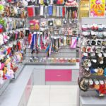 Островок и панели с накопителями для магазина бижутерии и подарков