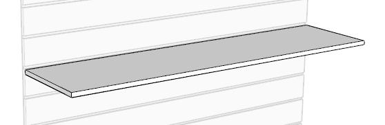 Полка ЛДСП на экономпанель 1200×300 мм
