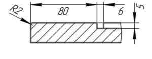 Разрез фасада Смолвуд (стиль кантри)