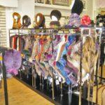 Торговый островной стеллаж для одежды