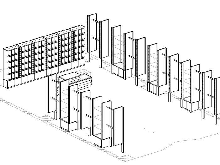 Пример рабочего эскиза проекта магазина