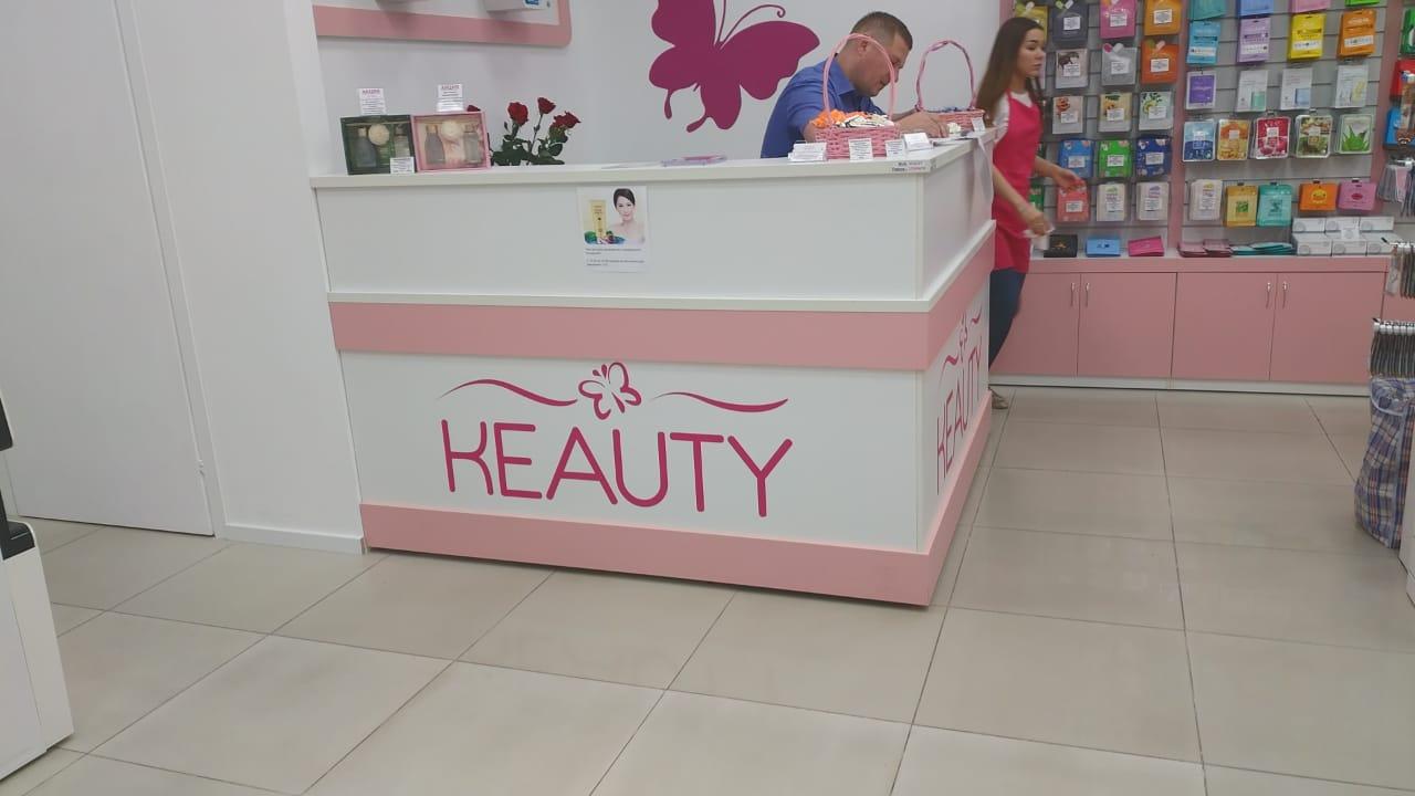 Кассовая стойка для магазина корейской косметики